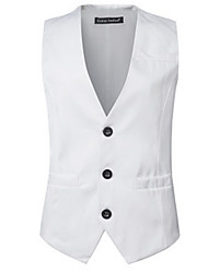 cheap -Men's Street chic Vest - Solid Colored, Formal Style
