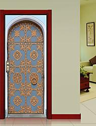 abordables -Paysage Vintage Stickers muraux Autocollants muraux 3D Autocollants muraux décoratifs, Vinyle Décoration d'intérieur Calque Mural Mur