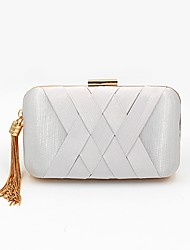 cheap -Women Bags Polyester Evening Bag Tassel for Wedding Event/Party All Season Black White Gold Blue