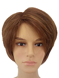 cheap -Synthetic Hair Wigs Straight Capless Natural Wigs Short Brown