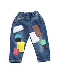 economico -Pantaloni Da ragazzo Cotone Collage Inverno Autunno Semplice Blu