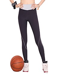 cheap -Women's Running Tights Stretchy Pants / Trousers Tights Yoga Outdoor Exercise Running Nylon Grey M L