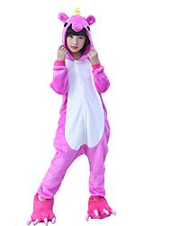 cheap -Kigurumi Pajamas Monster Horse Onesie Pajamas Costume Flannel Toison Rose Cosplay For Children's Animal Sleepwear Cartoon Halloween