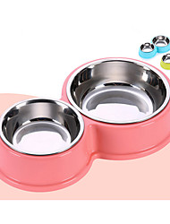 cheap -Dog Bowls & Water Bottles Pet Bowls & Feeding Durable Pink Blue Green