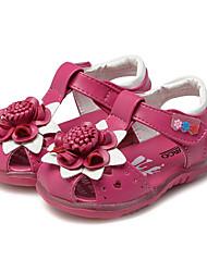 Недорогие -Девочки Обувь Дерматин Лето Удобная обувь / Обувь для малышей Сандалии Цветы / На липучках для Персиковый