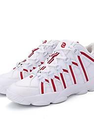 Masculino sapatos Tule Couro Ecológico Primavera Outono Conforto Tênis Futebol Cadarço para Atlético Preto Branco e Preto Vermelho/Branco