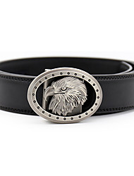 cheap -Men's Party / Work Leather / Alloy Waist Belt - Solid Colored Metal