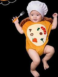 Baby Unisex Tøjsæt Daglig Geometrisk,Bomuld Alle årstider Uden ærmer Simple Gul