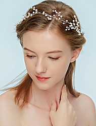 cheap -Women's Headband,Simple Classic Imitation Pearl All Seasons White