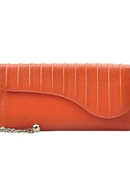 cheap -Women Bags Cowhide Wallet Pattern / Print Zipper for Casual Office & Career All Season Orange