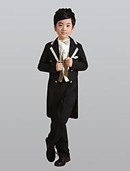 baratos -Dourado Prata Poliéster Terno de Pajem - 6 Inclui Blazer Faixa Larga Colete Camisa Calças Gravata Borboleta