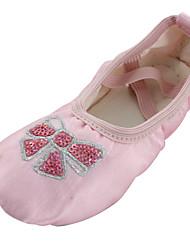 baratos -Sapatilhas de Balé Seda Sapatilha Sem Salto Personalizável Sapatos de Dança Rosa claro / Interior