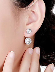 cheap -Women's Stud Earrings Front Back Earrings Basic Crystal Alloy Circle Jewelry Other Formal