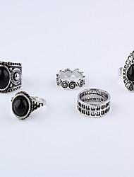 baratos -Mulheres Liga Anéis para Falanges - 5 , Simples / Casual Prata Anel Para Diário