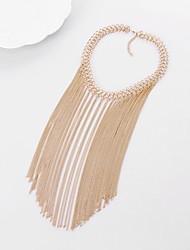 abordables -Femme Colliers chaînes  -  Classique Large Forme de Ligne Or Argent Colliers Tendance Pour Soirée Cérémonie