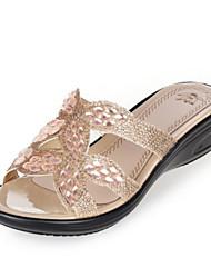 economico -Da donna Scarpe PU (Poliuretano) Estate Comoda Pantofole e infradito Ballerina Occhio di pernice per Casual Oro Argento