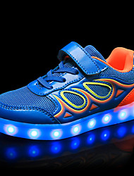 cheap -Boys' Shoes Breathable Mesh Synthetic Spring Summer Light Up Shoes Comfort Sneakers Animal Print Gore LED Hook & Loop for Casual Outdoor