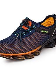 Недорогие -Муж. обувь Полиуретан Тюль Весна Осень Удобная обувь Спортивная обувь Беговая обувь для Атлетический Повседневные Оранжевый Серый Синий