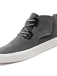 abordables -Homme Chaussures Gomme Printemps / Automne Confort Basket Noir / Gris / Marron