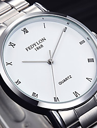cheap -Men's Quartz Wrist Watch Chinese Stainless Steel Band Casual / Minimalist / Fashion Silver