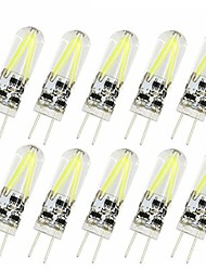cheap -10pcs 2W G4 Filament COB LED Bulb Replace 20W Halogen 150lm Chandelier Lighting Warm/Cool Light AC/DC 12V