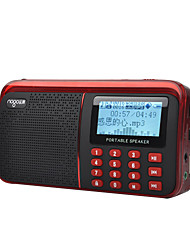 cheap -NOGO R909 FM AM Portable Radio Recording Alarm Clock Playlists Supported MP3 Player Sound adjustable TF CardWorld ReceiverBlue Red White