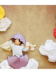 bebê Unissex Conjunto Natal Aniversário Sólido Primavera Verão Fibra Sintética Manga Comprida Simples Branco