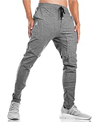 cheap -Men's Running Pants Fitness, Running & Yoga Pants / Trousers for Running/Jogging 100%Cotton Slim Grey Green Dark Grey Black XXXL XXL XL L