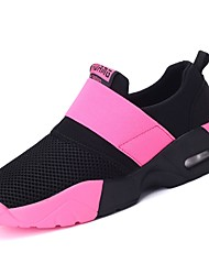 cheap -Women's Shoes Rubber Spring Fall Comfort Athletic Shoes Walking Shoes Flat Heel Round Toe Booties/Ankle Boots Ribbon Tie for Outdoor