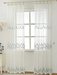 preiswerte -Schlaufen für Gardinenstange Ösen Schlaufen Zweifach gefaltet plissiert Window Treatment Landhaus Stil, Stickerei Blumen Schlafzimmer