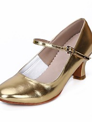 "cheap -Women's Modern Leatherette Heel Indoor Chunky Heel Gold Silver 2"" - 2 3/4"" Customizable"