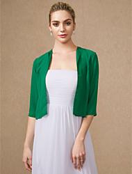 cheap -3/4 Length Sleeve Chiffon Wedding / Party / Evening Women's Wrap With Shrugs