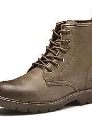 Masculino sapatos Seda Pele Napa Inverno Outono Botas Cowboy/Country Botas da Moda Coturnos Botas Botas Curtas / Ankle para Casual Preto