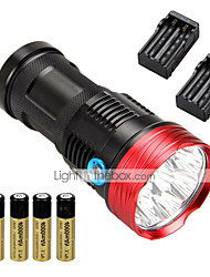 cheap -10 LED Flashlights / Torch LED 10000 lm 3 Mode with Batteries and Charger Waterproof / Impact Resistant / Rechargeable Camping / Hiking / Caving / Everyday Use / Cycling / Bike