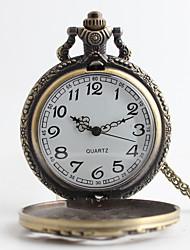 baratos -Homens Quartzo Relógio de Bolso Lega Banda Luxo Bronze