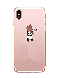 cheap -For iPhone X iPhone 8 iPhone 7 iPhone 6 iPhone 5 Case Case Cover Pattern Back Cover Case Playing with Apple Logo Panda Soft TPU for Apple