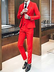 cheap -Men's Slim Suits - Solid Colored Notch Lapel