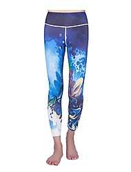 cheap -Women's Running Cropped Pants Fitness, Running & Yoga Pants / Trousers for Yoga Running/Jogging Pilates Rayon Polyester Tight Blue Green