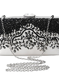 cheap -Women's Bags Polyester / Metal Clutch Crystals / Embroidery Black