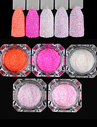 cheap -Five-piece Suit Sparkle Laser Holographic Glitter Powder Multi-Colored Nail Art Design