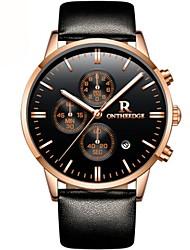 Недорогие -Муж. Спортивные часы Модные часы Нарядные часы Японский Кварцевый Натуральная кожа Черный / Синий / Коричневый 30 m Защита от влаги Календарь Секундомер Аналоговый Роскошь Классика На каждый день -