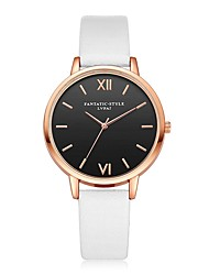 cheap -Women's Casual Watch Wrist watch Chinese Quartz Casual Watch PU Band Casual Cool Black White Red Brown Pink Beige Navy Rose Sky Blue