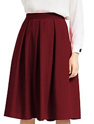 cheap -Women's Daily Knee-length Skirts