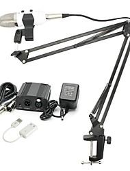 Недорогие -KEBTYVOR MK-F100TL Проводное Микрофон наборы Конденсаторный микрофон Профессиональный Назначение ПК и ноутбуки