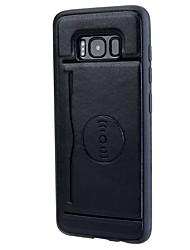 preiswerte -Hülle Für Samsung Galaxy S8 Plus S8 Kreditkartenfächer mit Halterung Rückseite Volltonfarbe Weich PU-Leder für S8 Plus S8 S7 edge S7