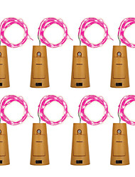 cheap -BRELONG 8pcs 8LED Wine Bottle Copper String Lights For Christmas Halloween Wedding Party Decorations