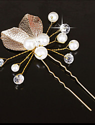 cheap -Imitation Pearl Copper wire Hair Pin Hair Stick with Imitation Pearl Crystal Detailing 1pc Wedding Headpiece