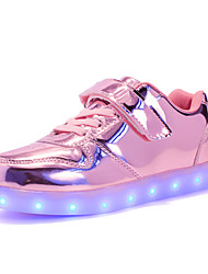 cheap -Boys' Shoes Sparkling Glitter Synthetic Spring Summer Light Up Shoes Comfort Sneakers LED Hook & Loop for Casual Outdoor Pink Fuchsia