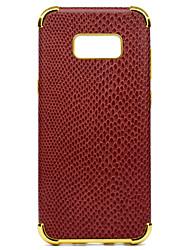 preiswerte -Hülle Für Samsung Galaxy S8 Plus S8 Stoßresistent Beschichtung Muster Rückseite Volltonfarbe Weich PU-Leder für S8 Plus S8 S7 edge S7