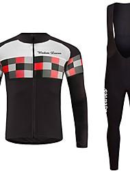 economico -Wisdom Leaves Maglia con salopette lunga da ciclismo Unisex Manica lunga Bicicletta Maglietta/Maglia Set di vestiti Abbigliamento ciclismo